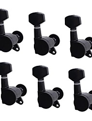 6R Black Locked String Guitar Tuning Pegs Tuners Machine Heads for strat Tele Style Electric Guitar
