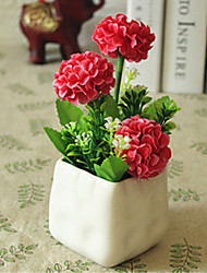 hygrangeas roxo vermelho artificial flores com vaso