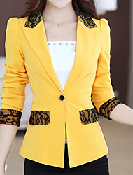Women's Blazer,Solid ½ Length Sleeve Medium