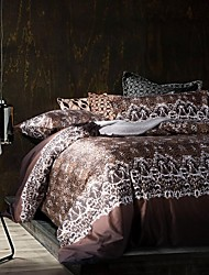 Cotton Twill King/Queen Duvet Cover Sets Of 4pcs