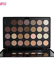 28 Palette de Fard à Paupières Lueur / Matériel Fard à paupières palette Poudre Grand Maquillage Quotidien / Maquillage Smoky-Eye