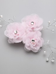 Women's/Flower Girl's Alloy/Imitation Pearl/Cubic Zirconia Headpiece - Wedding/Special Occasion Hair Combs/Flowers