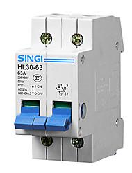 hl30-63 2p63a RCCB résiduelle disjoncteur à courant