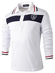 Men's Lapel Fashion Casual Long Sleeve Polos