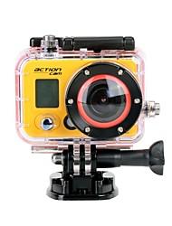 HD1080P Mini Sports Camera 12MP 60M Waterproof 2/3 CMOS w/ 0.7 LCD 2pcs 1080mAh Li-polymer Battery