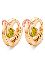 Women's  Individuality Design 18K Gold Plating Inlay Zircon Earrings