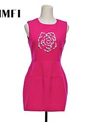 Women's Pink Dress , Work Sleeveless