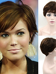 #4 wigs Exquisite Women's Hairstyle Brazilian Hair wig Brown Elegant Short Hair Wigs in Stock
