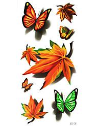 5 - Séries animales - Multicolore - Motif - 23.8*9.5cm - Tatouages Autocollants - JiaMei -