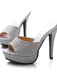 Women's Shoes Stiletto Heel Peep Toe Sandals with Rhinestone Shoes Dress More Colors available