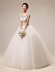 Ball Gown Wedding Dress Floor-length Scoop Lace with