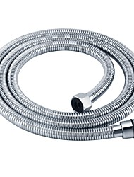 Chrome Bathroom Replacement Flexible Anti-twist Stainless Steel Interlock Shower Hose 71-Inch MAX , I4150