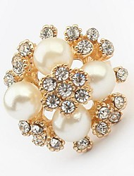 Tina -- Korean Elegant All-match Fashion Pearl Ring in Party (1 Pc)
