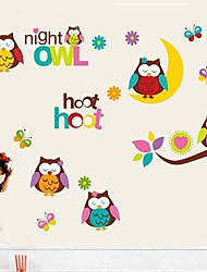 Lovely Owls Shaped Children's Room Wall Sticker