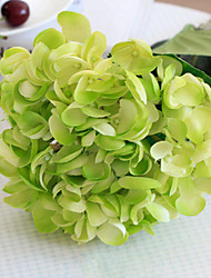 Oversized Green Mermaid Hydrangeas Artificial Flowers Set 2