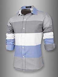 Duang  Men's Sheer Casual Shirts (Cotton)