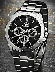 lagmeey® 3d Muster Diamanten eingelegten Stahl Quarzuhr Uhr