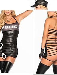 Sexy Girl Bandage Polyester Halloween Police Uniform Women Costumes