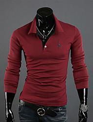 Informeel ShirtKraag - MEN - T-shirts ( Katoenmengeling )met Lange Mouw