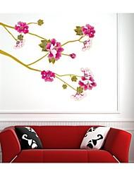 decalques de parede adesivos de parede, estilo flor de ouro voar parede pvc adesivos