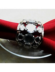 Crystal Napkin Ring, Iron, 1.77Inch, Set of 12