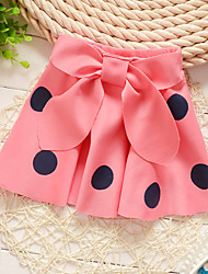 Girl's Summer/Spring/Fall Micro-elastic Medium Skirts (Cotton)