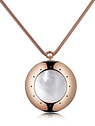 Ms Tech MT-1002 316L SS 64KB ROM 4.0 BLE IP-x7 Rose Gold Plated Shell Embedded Smart Pendant