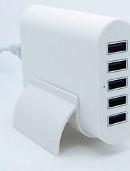 50w 5 Porta caricabatteria del caricatore usb intelligente rilevare&ricarica rapida 5v 10a porta 2a allo stesso tempo