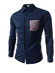 Pistons,Men's Vintage/Casual/Party/Work Long Sleeve Casual Shirts (Cotton/Rayon)