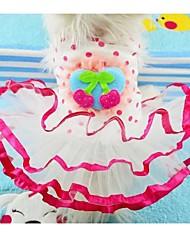 Dog Dress Pink Spring/Fall Polka Dots