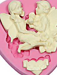 Love Angel bolo molde de silicone topper gum paste fondant sabão fimo de chocolate do molde de silicone