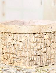 """4.5""""H Modern Style White Stone Vase Cylindrical Vase"""