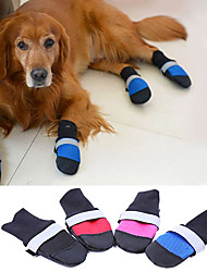Dog Shoes & Boots Keep Warm Solid Black Rose Ruby Blue