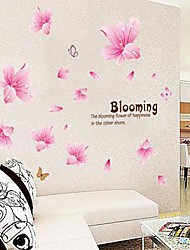 sticker mural PVC lis rose