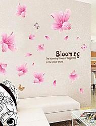 lírio rosa adesivo de parede de pvc