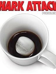 Novelty Shark Attack Porcelain Mug Coffee Tea Cup Jaws Beverage Gag Gift