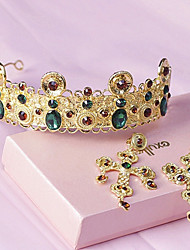Ladies' Alloy Rhinestone Wedding Jewelry Set With Rhinestone