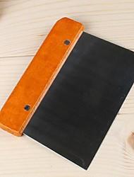 raspador de massa em aço inox com cabo de madeira (cor aleatória) 14,9 * 10,6 * 0.0.3cm