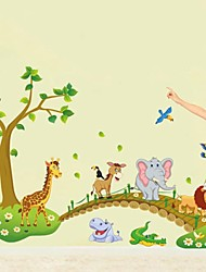 Wall Stickers Wall Decals, Cartoon Animals PVC Wall Stickers