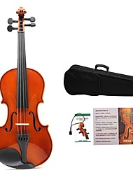 ASTONVILA Bright Natrual Colored Violin with White Rim Rosin+Violin Bow+Foam Boex