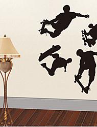 l'autocollant amovible environnement mural PVC skate garçon