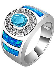 Ring Wedding / Party / Daily / Casual / Sports Jewelry Zircon / Gem Women Statement Rings 1pc,6 / 7 / 8 / 9 / 10 Light Blue
