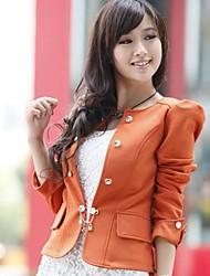 Women's Work Bow Slim  Long Sleeve Short  Blazer