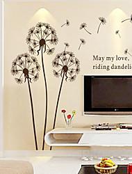 decalques de parede adesivos de parede, vento estilo da parede de-leão adesivos em pvc