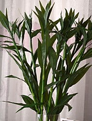 "35.8""L Set of 1 Green Lucky Bamboo Silk Cloth Plants"