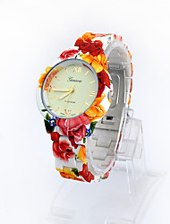Lureme® Fashion Leisure Printing Color Country Style Plastic Strap  Girls and Women Quartz Wrist Watch Cool Watches Unique Watches