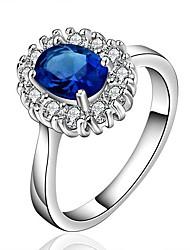 elegante blaue Edelstein Ring Miss u Frauen