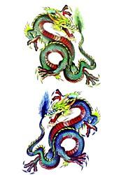 1 Tatouages Autocollants Séries animales Motif Bas du Dos ImperméableHomme Adulte Adolescent Tatouage Temporaire Tatouages temporaires