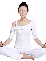 hombro único diseño yoga superior y los pantalones de las mujeres