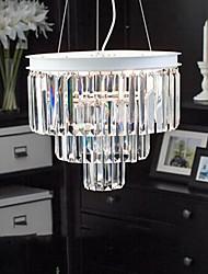 "15.7"" Pendant Light 6 Lights Modern White Pendant Light with Glass Lampshade Metal Glass"